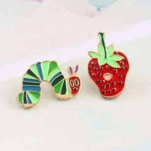 Jewelry - The Very Hungry Caterpillar Enamel Pin Set